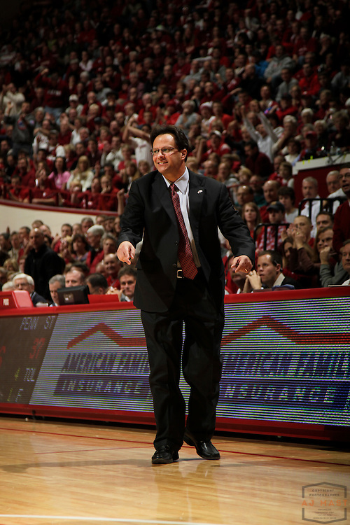 27 December 2010: Indiana head coach Tom Crean as the Indiana Hoosiers played the Penn State Nittany Lions in a college basketball game in Bloomington, Ind.