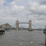 Tower bridge on 18 July 2019, City of London, UK.