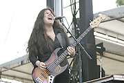 June 17, 2006; Manchester, TN.  2006 Bonnaroo Music Festival. The Magic Numbers performs at Bonnaroo 2006.  Photo by Bryan Rinnert