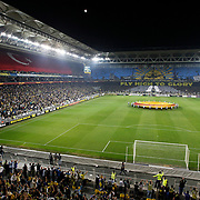 Fenerbahce's and Benfica's during their UEFA Europa League Semi Final first match Fenerbahce between Benfica at Sukru Saracaoglu stadium in Istanbul Turkey on Thursday 25 April 2013. Photo by Aykut AKICI/TURKPIX