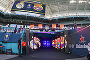 The tunnel entrance before the International Champions Cup match between Real Madrid and FC Barcelona at the Hard Rock Stadium, Miami on 29 July 2017.