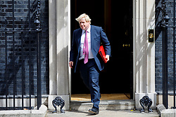 © Licensed to London News Pictures. 18/07/2017. London, UK. Foreign Secretary BORIS JOHNSON leaves after a cabinet meeting in Downing Street, London on Tuesday, 18 July 2017. Photo credit: Tolga Akmen/LNP