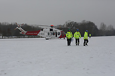 Helicopter Snow Isle oF Wight