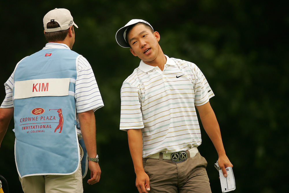 FORT WORTH, TX - MAY 24:  Anthony Kim competes during the first round of the 2007 Crowne Plaza Invitational at Colonial Tournament in Fort Worth, Texas at Colonial Country Club on Thursday, May 24, 2007. (Photo by Darren Carroll/Getty Images) *** LOCAL CAPTION*** Anthony Kim