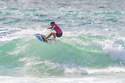 Yolanda Hopkins (PRT) Winner of Final of Women's Roxy Pro Surfing Championships at Boardmasters 2019 at Fistral Beach, Newquay, Cornwall, United Kingdom on 11 August 2019.