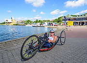 Poznan,  POLAND,  Thursday, 16/06/2016.  GBR AS W1X, Rachel MORRIS, in the boating area FISA World Cup III, Malta Lake.[Mandatory Credit; Peter SPURRIER/Intersport-images]