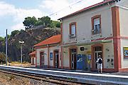 Train station. Banyuls sur Mer, Roussillon, France