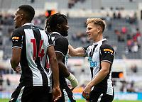 Football - 2021 / 2022 - Pre-Season Friendly - Newcastle United vs Norwich City - St James Park - Saturday 7th August 2021<br /> <br /> Matt Ritchie of Newcastle United scores to make it 1-0 to  Newcastle United<br /> <br /> Credit: COLORSPORT/Bruce White