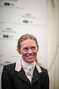 Lauren Shannon (USA) during the press conference having come second at the Bramham International Horse Trials 2016 at  at Bramham Park, Bramham, United Kingdom on 12 June 2016. Photo by Mark P Doherty.