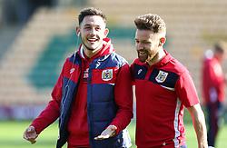 Josh Brownhill and Matty Taylor of Bristol City - Mandatory by-line: Arron Gent/JMP - 23/02/2019 - FOOTBALL - Carrow Road - Norwich, England - Norwich City v Bristol City - Sky Bet Championship