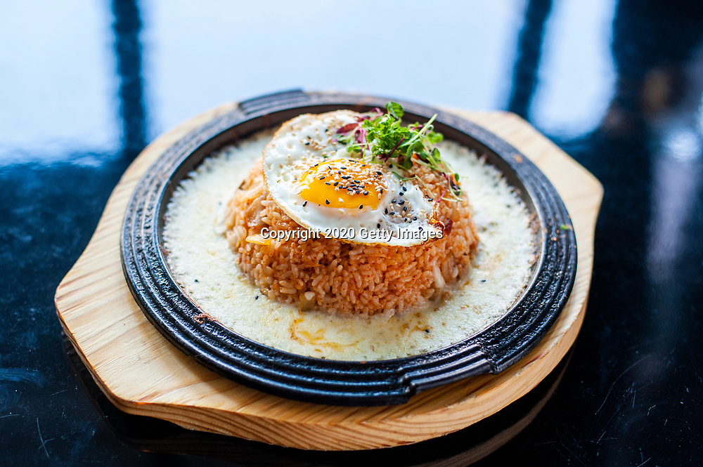 NEW YORK- JANUARY 09: Volcano Kimchi Fried Rice photographed at Chef Esther Choi's My Soo on January 9th, 2020 in New York City. (Photo by Kris Connor/Getty Images for OK! Magazine)