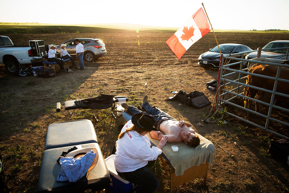 during the PBR event in Cluny, Alberta Sunday, July 2, 2017. Todd Korol/The Globe and Mail