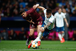 March 22, 2019 - Madrid, MADRID, SPAIN - Cristian Pavon of Argentina and Mikel Villanueva of Venezuela during the international friendly football match played between Argentina and Venezuela at Wanda Metropolitano Stadium in Madrid, Spain, on March 22, 2019. (Credit Image: © AFP7 via ZUMA Wire)