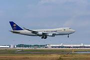 Saudi Arabian Cargo Boeing 747-400F (TF-AMU) at Malpensa (MXP / LIMC), Milan, Italy