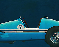 If you want to give your interior an extra stylish detail, this painting of an old racing car, a Gordini Grand Prix in Close Up, is perfect. –<br />