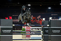 John Whitaker on Argento competes during the AirbusTrophy at the Longines Masters of Hong Kong on 20 February 2016 at the Asia World Expo in Hong Kong, China. Photo by Juan Manuel Serrano / Power Sport Images