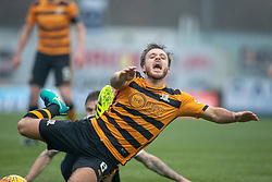 Falkirk's Paul Paton and Alloa Athletic's Steven Hetherington. Falkirk 1 v 2 Alloa Athletic, Scottish Championship game played 6/4/2019 at The Falkirk Stadium.