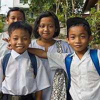 Students posing in Kuching.