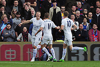 Football - 2016 / 2017 Premier League - Crystal Palace vs. Leicester City<br /> <br /> Robert Huth of Leicester celebrates scoring his first half goal at Selhurst Park.<br /> <br /> COLORSPORT/ANDREW COWIE