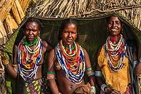Arbore tribe women, Omo Valley, Ethiopia.
