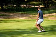 01-09-2016 Golffoto's van het Nationaal Open op de Hilversumsche Golf Club in Hilversum. Finale.  Anne van Dam mist birdie op de zeventiende