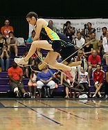 Loughborough, England - Saturday 31 July 2010: Aimee Devlin of Australia in action in the single rope freestyle open event during the World Rope Skipping Championships held at Loughborough University, England. The championships run over 7 days and comprise junior categories for 12-14 year olds in the World Youth Tournament, 15-17 year olds male and female championships, and any age open championships. In the team competitions, 6 events are judged, the Single Rope Speed, Double Dutch Speed Relay, Single Rope Pair Freestyle, Single Rope Team Freestyle, Double Dutch Single Freestyle and Double Dutch Pair Freestyle. For more information check www.rs2010.org. Picture by Andrew Tobin/Picture It Now.