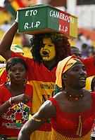 Photo: Steve Bond/Richard Lane Photography.<br />Ghana v Cameroon. Africa Cup of Nations. 07/02/2008. Ghana fans imply the worst