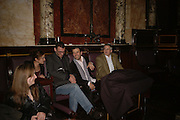 PAUL FRYER AND COLIN DANCER, Viewing of 'Petit Mal'  by Paul Fryer. The Grecian Temple. Great Eastern Hotel. 40 Liverpool St. London. EC2M 7QN. ONE TIME USE ONLY - DO NOT ARCHIVE  © Copyright Photograph by Dafydd Jones 66 Stockwell Park Rd. London SW9 0DA Tel 020 7733 0108 www.dafjones.com