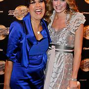 NLD/Amsterdam/20120217 - Premiere Saturday Night Fever, Sandra Reemer en Liza Sips