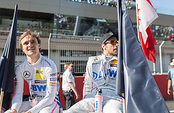 21.05.2016, Red Bull Ring, Spielberg, AUT, DTM Red Bull Ring, Rennen, im Bild Lucas Auer (AUT, Mercedes-AMG C 63 DTM), Christian Vietoris (GER, Mercedes-AMG C 63 DTM) // during the DTM Championships 2016 at the Red Bull Ring in Spielberg, Austria, 2016/05/21, EXPA Pictures © 2016, PhotoCredit: EXPA/ Dominik Angerer