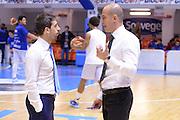 DESCRIZIONE : Brindisi  Lega A 2015-16 Enel Brindisi Pasta Reggia Juve Caserta<br /> GIOCATORE : Marco Esposito Giacomo Baioni<br /> CATEGORIA : Allenatore Coach Fair Play Before Pregame<br /> SQUADRA : Enel Brindisi Pasta Reggia Juve Caserta<br /> EVENTO : Enel Brindisi Pasta Reggia Juve Caserta<br /> GARA :Enel Brindisi  Pasta Reggia Juve Caserta<br /> DATA : 24/04/2016<br /> SPORT : Pallacanestro<br /> AUTORE : Agenzia Ciamillo-Castoria/M.Longo<br /> Galleria : Lega Basket A 2015-2016<br /> Fotonotizia : <br /> Predefinita :