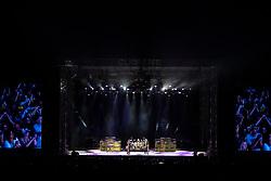 29.06.2019, Burg Clam Konzertareal, Klam bei Grein, AUT, ZZ Top Konzert, anlässlich eines Konzert am Samstag, 29. Juni 2019, in der Burg Clam Konzertareal in Klam bei Grein, im Bild v.l. ZZ Top, Dusty Hill (E-Bass), Frank Beard (Schlagzeug), Billy Gibbons (E-Gitarre) // during a concert of ZZ Top at the Burg Clam Konzertareal in Klam bei Grein, Austria on 2019/06/29. EXPA Pictures © 2019, PhotoCredit: EXPA/ Reinhard Eisenbauer