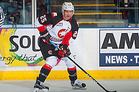KELOWNA, CANADA - SEPTEMBER 28: Tate Olson #25 of Prince George Cougars skates against the Kelowna Rockets on September 28, 2016 at Prospera Place in Kelowna, British Columbia, Canada.  (Photo by Marissa Baecker/Shoot the Breeze)  *** Local Caption *** Tate Olson;