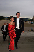Dawn Laren and Tim Jefferies, Ball at Blenheim Palace in aid of the Red Cross, Woodstock, 26 June 2004. SUPPLIED FOR ONE-TIME USE ONLY-DO NOT ARCHIVE. © Copyright Photograph by Dafydd Jones 66 Stockwell Park Rd. London SW9 0DA Tel 020 7733 0108 www.dafjones.com