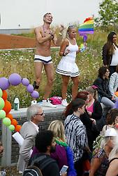 August 5, 2017 - Stockholm, Sweden - Stockholm Pride, parade, 2017-08-05..(c) JERREVÃ…NG STEFAN  / Aftonbladet / IBL BildbyrÃ¥....* * * EXPRESSEN OUT * * *....AFTONBLADET / 2800 (Credit Image: © JerrevÃ…Ng Stefan/Aftonbladet/IBL via ZUMA Wire)