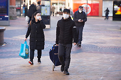 © Licensed to London News Pictures 05/02/2021.        Bexleyheath, UK. Shoppers out and about on The Broadway in Bexleyheath, South East London today as the R-rate drops below 1 in England for the first time since July last year. Photo credit:Grant Falvey/LNP