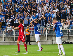 """August 3, 2017 - Poznan, Poland - The delusion of Christian Gytkjaer (Lech)  and Nickie Bille Nielsen (Lech) after the UEFA Europa League Third Qualifying Round Second Leg match between Lech PoznaÅ"""" and FC Utrecht at Stadio Miejski, on August 3, 2017 in PoznaÅ"""", Poland. (Credit Image: © Foto Olimpik/NurPhoto via ZUMA Press)"""