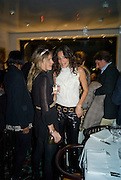 EUGENIE NIARCHOS AND ASTRID MUNOZ, Exhibition of work by Marc Newson at the Gagosian Gallery, Davies st. London. afterwards at Mr. Chow, Knightsbridge. 5 March 2008.  *** Local Caption *** -DO NOT ARCHIVE-© Copyright Photograph by Dafydd Jones. 248 Clapham Rd. London SW9 0PZ. Tel 0207 820 0771. www.dafjones.com.