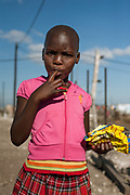 Child in township New Brighton, South Africa
