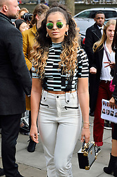 © Licensed to London News Pictures. 21/02/2016. ELLA EYRE arrival for the Top Shop Unique show at the London Fashion Week Autumn/Winter 2016 show. Models, buyers, celebrities and the stylish descend upon London Fashion Week for the Autumn/Winters 2016 clothes collection shows. London, UK. Photo credit: Ray Tang/LNP