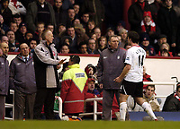 Photo: Olly Greenwood.<br />Arsenal v Liverpool. The Barclays Premiership. 12/03/2006. Liverpool's Xabi Alonso is sent off
