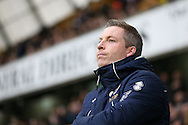 Neil Harris, the Millwall manager looking on from the dugout .The Emirates FA Cup 3rd round match, Millwall v AFC Bournemouth at The Den in London on Saturday 7th January 2017.<br /> pic by John Patrick Fletcher, Andrew Orchard sports photography.