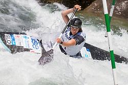 Alja Kozorog from Slovenia competes in Qualifications during Day 3 of 2017 ECA Canoe Slalom European Championships, on June 3, 2017 in Tacen, Ljubljana, Slovenia. Photo by Urban Urbanc / Sportida
