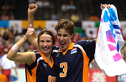 18-06-2000 JAP: OKT Volleybal 2000, Tokyo<br /> Nederland - China 3-0 / Elles Leferink, Francien Huurman