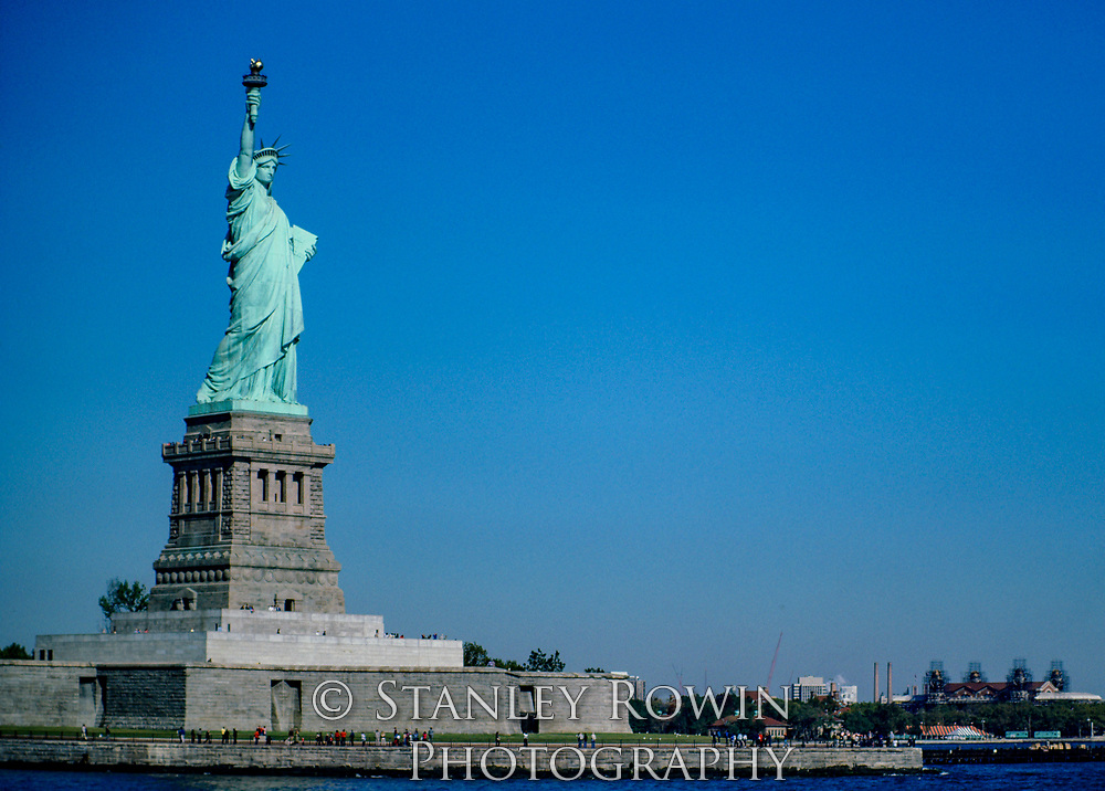 Statue of Liberty showing Liberty Island and Pedestal