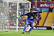 Sunderland goalkeeper Costel Pantilimon in action.Barclays Premier League match, Aston Villa v Sunderland at Villa Park in Birmingham, Midlands on Saturday 29th August  2015.<br /> pic by Andrew Orchard, Andrew Orchard sports photography.