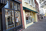 Shops in the historic district of Fernandina Beach, Florida