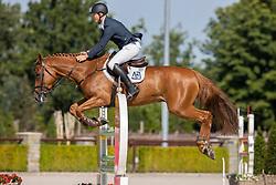 Chitty Alex, GBR, Jamil Field<br /> Nationaal Kampioenschap KWPN<br /> 6 jarigen springen final<br /> Stal Tops - Valkenswaard 2020<br /> © Hippo Foto - Dirk Caremans<br /> 19/08/2020