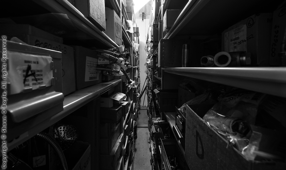 Rolling storage shelves, GWR building