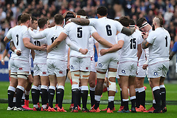 February 2, 2020, Saint Denis, Seine Saint Denis, France: Three Lions team before the match of the Guinness Six Nations Rugby tournament between France and  England at the Stade de France - St Denis - France.. France won 24-17 (Credit Image: © Pierre Stevenin/ZUMA Wire)